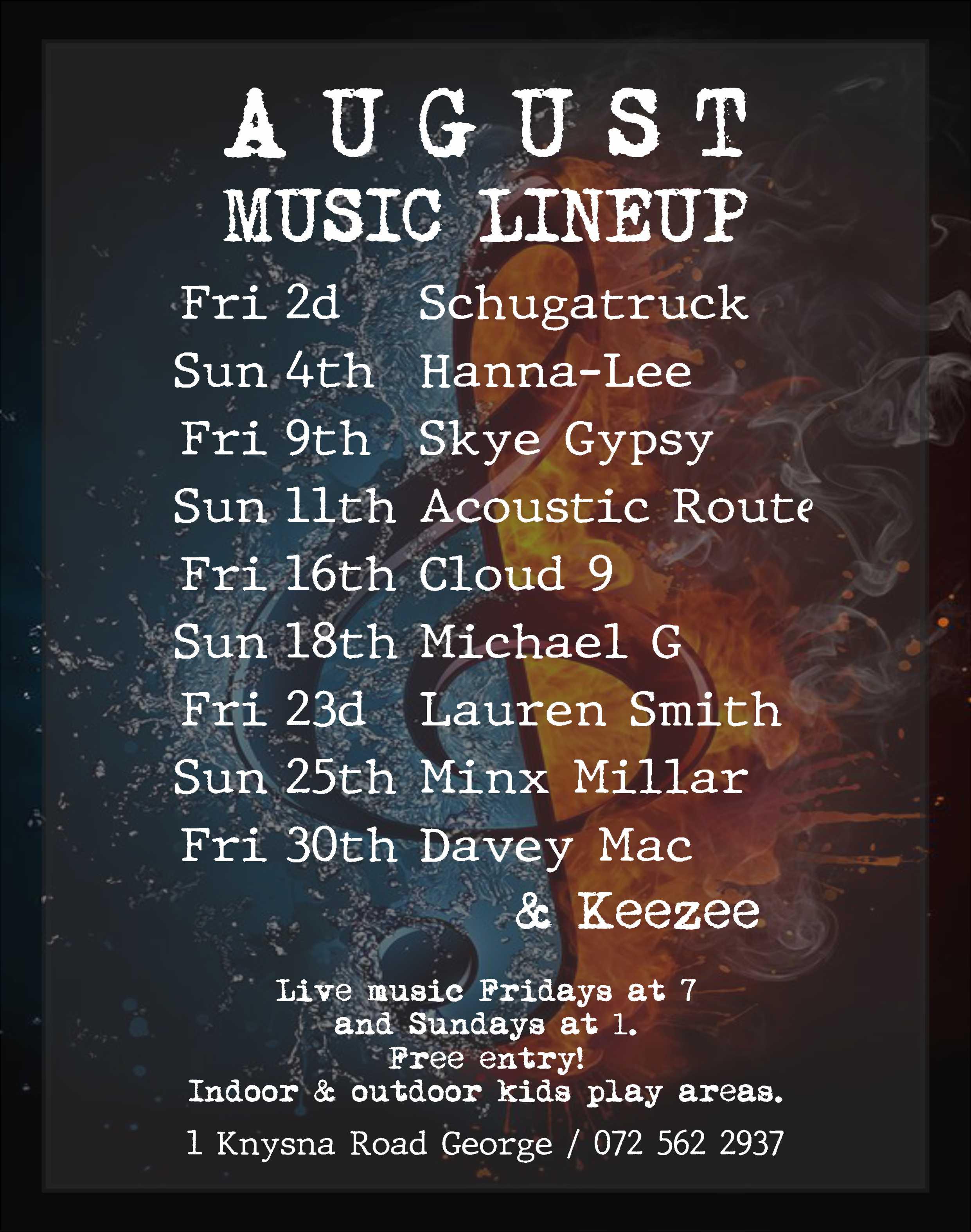 Lineup - August 2019 Social media