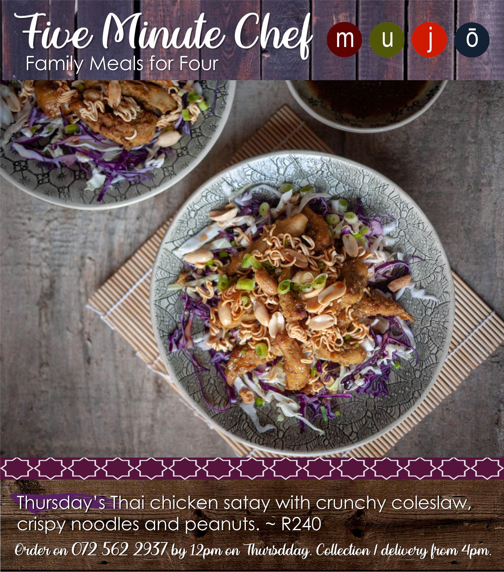 Five Minute Chef Chicken satay
