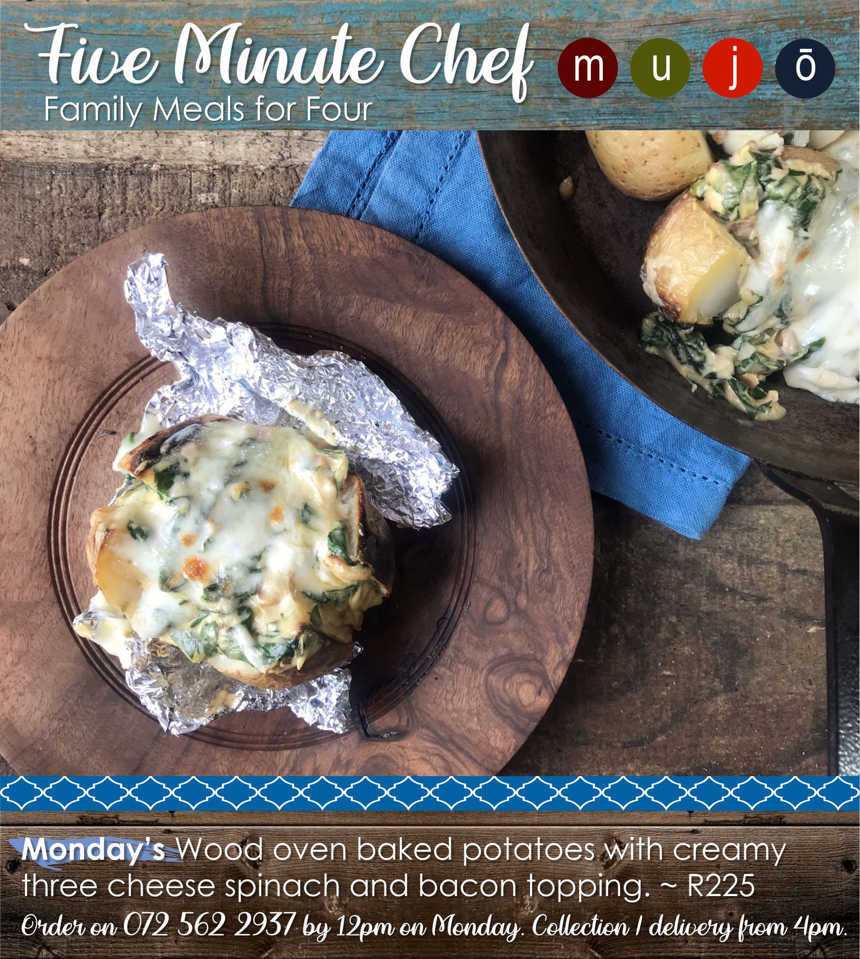 Five Minute Chef spinach spuds